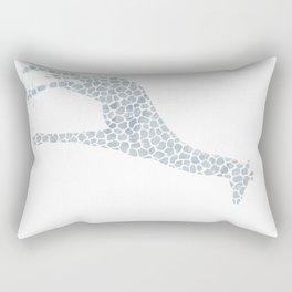 Chambray giraffe Rectangular Pillow