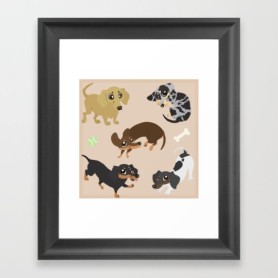 Dachshunds Framed Art Print