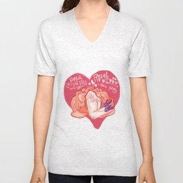 A Rough Valentine's Day Unisex V-Neck