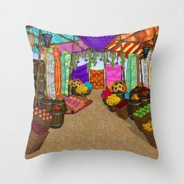 At The Bazaar Throw Pillow