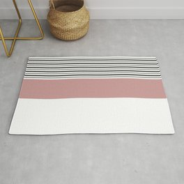 SAILOR STRIPES WITH PINK Rug