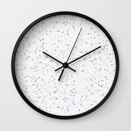 Speckles I: Rose Quartz & Serenity on Snow Wall Clock