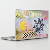 "flora bowley Laptop & iPad Skins featuring ""Intermix"" Original Painting by Flora Bowley by Flora Bowley"