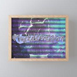 #fuckdepression Framed Mini Art Print