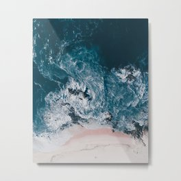 I love the sea - written on the beach Metal Print