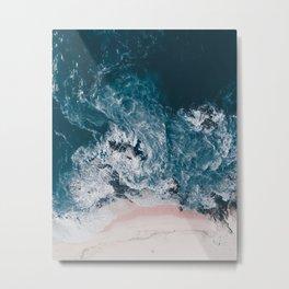 I love the sea - written on the beach Metal Print