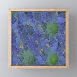 Blue Bloom Kaleidoscope Framed Mini Art Print