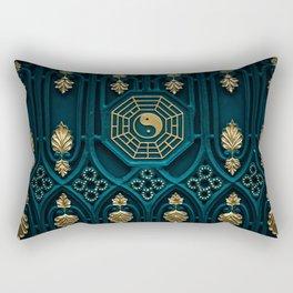 Gold Symbols Rectangular Pillow