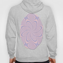 Whirly Bloom Fractal in Rose Quartz and Serenity Hoody