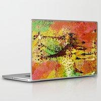 giraffe Laptop & iPad Skins featuring Giraffe  by Saundra Myles
