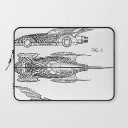 Batmobile Patent - Bat Mobile Art - Black And White Laptop Sleeve