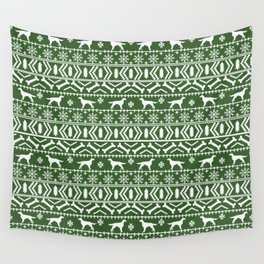 Irish Setter fair isle christmas green and white holiday sweater gifts dog breed Wall Tapestry