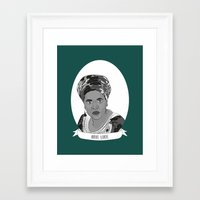 lorde Framed Art Prints featuring Audre Lorde Illustrated Portrait by Illustrated Women in History
