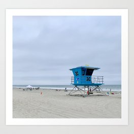 California lifeguards Art Print