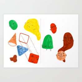 geometric rumba Art Print