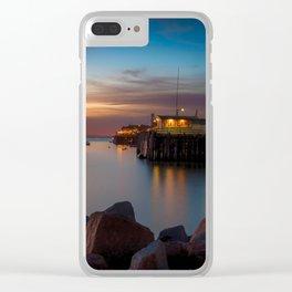 Here she comes again the sun rising at Port San Luis vila Beach Clear iPhone Case