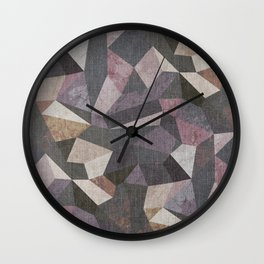 Low Poly Geometric Background Wall Clock