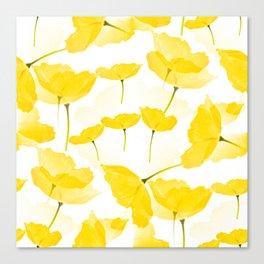 Light Yellow Poppies Spring Summer Mood #decor #society6 #buyart Canvas Print
