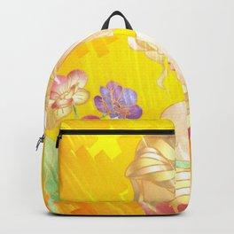 Golden Sad Girl Backpack