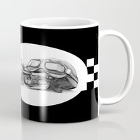 cafe racer Mugs featuring Cafe Racer II by Rainer Steinke