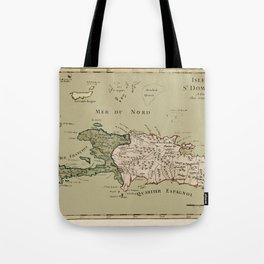 Map Of Hispaniola 1767 Tote Bag