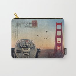 GOLDEN GATE RAIN - San Francisco Carry-All Pouch