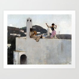 John Singer Sargent Capri Girl on a Rooftop Art Print