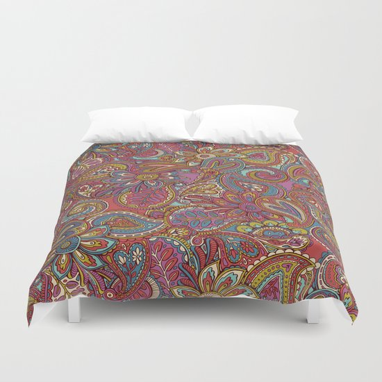 Valentines Paisley Duvet Cover