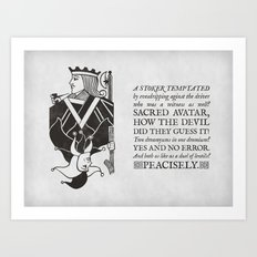 both as like as a duel of lentils Art Print