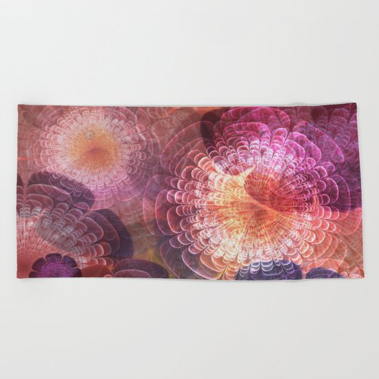 Fractal Corsage Beach Towel