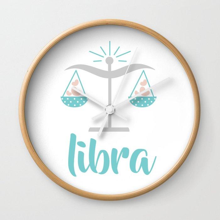 Libra Sep 23 October 22 Air Sign Zodiac Symbols Wall Clock By
