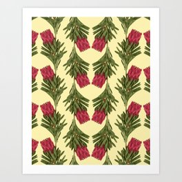 PROTEA IN FLAVESCENT Art Print