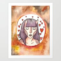 devil Art Prints featuring Devil by Jazmine Phillips