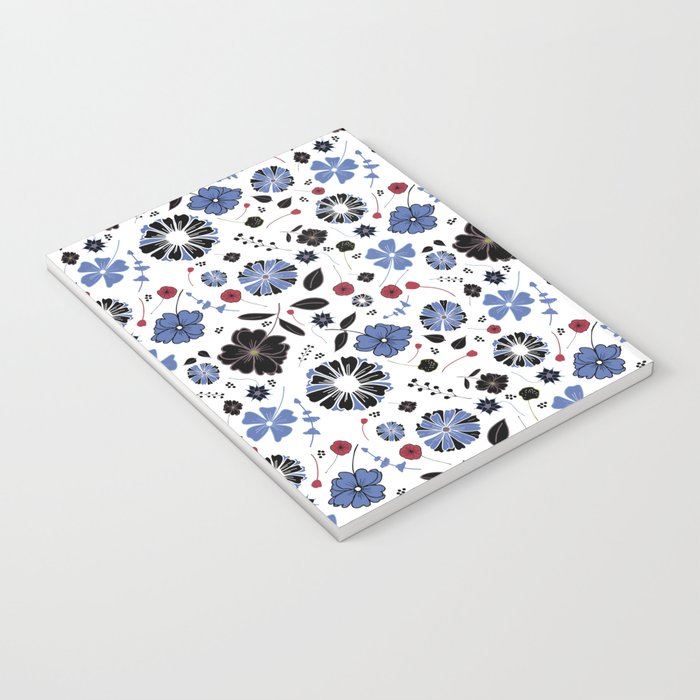 Blue and Black floral Notebook