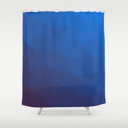 azure gradient polygon background Shower Curtain