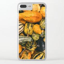 Autumn Farm Feast (Color) Clear iPhone Case