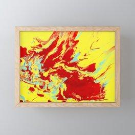 Crimson Wave Framed Mini Art Print