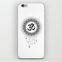 ohm iPhone & iPod Skins featuring Ohm Mandala by Lea Gregersen