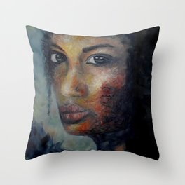 Courage by Lu Throw Pillow