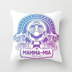 Mamma Mia Super Mario is-a Crazy Throw Pillow