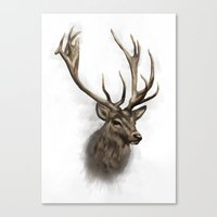 stag Canvas Prints featuring stag by emegi