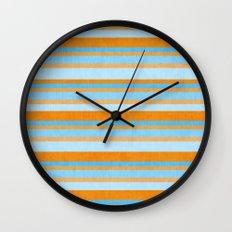 Something Fishy Stripes. Wall Clock