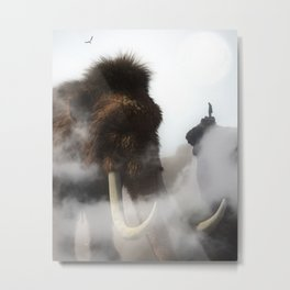The Giant Mammoth by GEN Z Metal Print