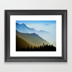 One after another Mountain Framed Art Print