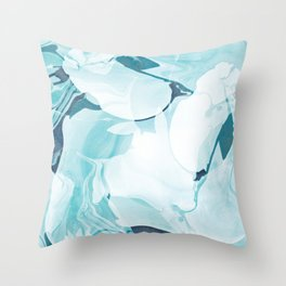 Iced Glacier Marble Throw Pillow