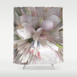 Abstract apple tree Shower Curtain