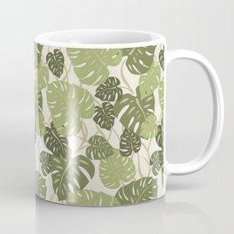 Cliff Hanger Monstera Leaf Hawaiian Print    Coffee Mug