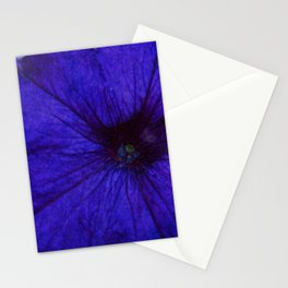 Blue Petunia Flower Macro Watercolor Stationery Cards