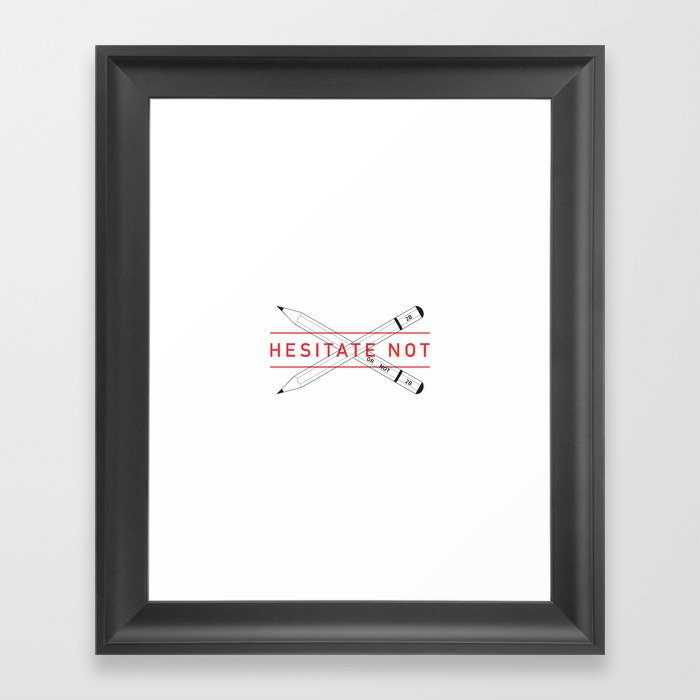 2B or not 2B Framed Art Print