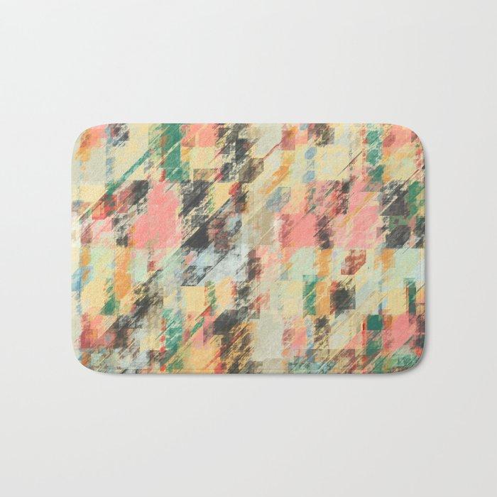 Pastel Colors Abstract Bath Mat